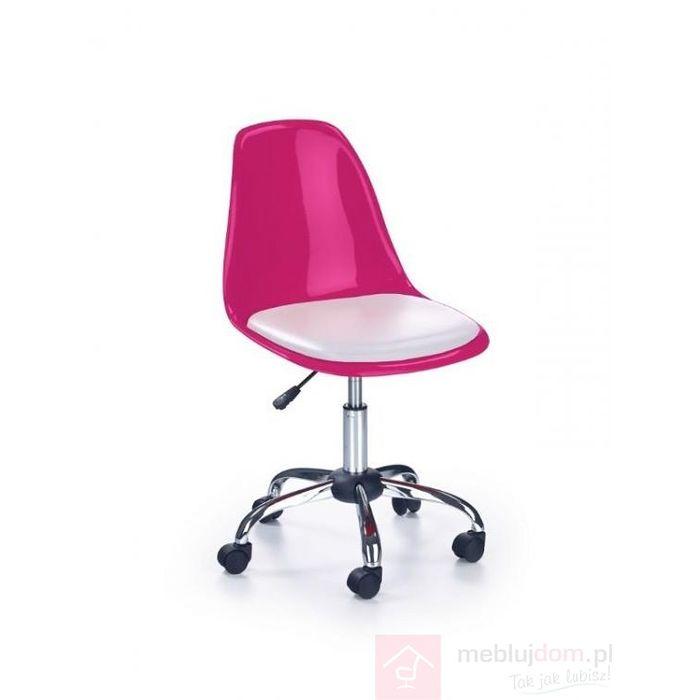 Fotel obrotowy COCO II  Halmar Biały, Różowy