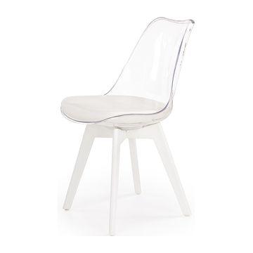 Krzesło K-245 Halmar (Biały + transparentny)
