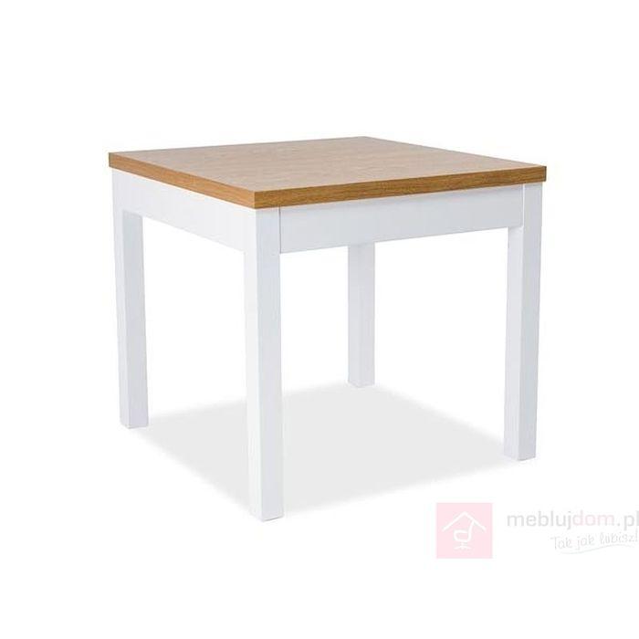 Stół KENT I Signal biały-buk
