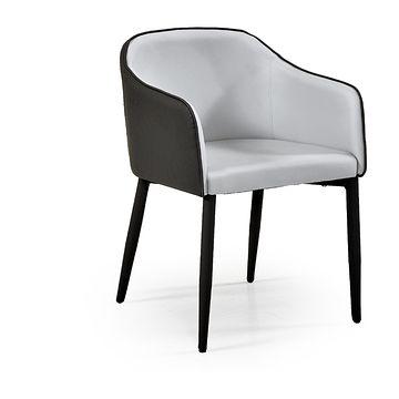 Krzesło SHIFT Halmar (Jasny popiel + ciemny popiel)