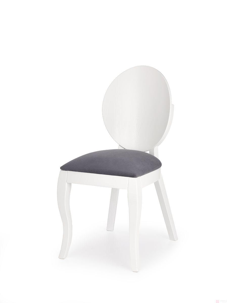 Krzesło VERDI Halmar (Biały + Tapicerka w kolorze popielu)