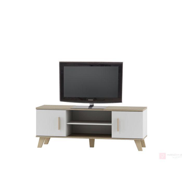 Szafka RTV MOLDA RTV-1 Halmar biała + dąb sonoma