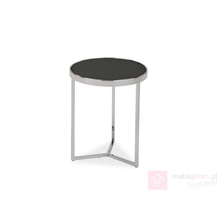Stolik DELIA I Signal czarny/chrom