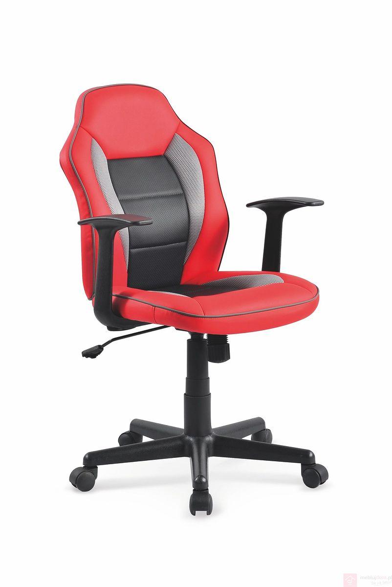 Fotel obrotowy NEMO Halmar czarno-czerwony