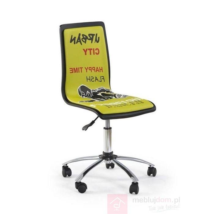 Fotel obrotowy FUN 2 Halmar Czarno-zielony