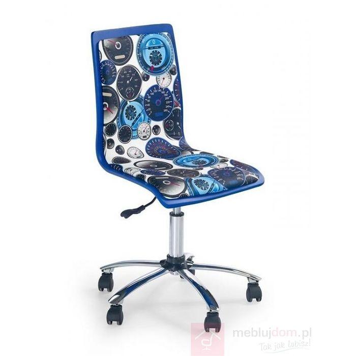 Fotel obrotowy FUN 8 Halmar Niebiesko-biały