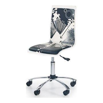 Fotel obrotowy FUN 9 Halmar Czarno-biały