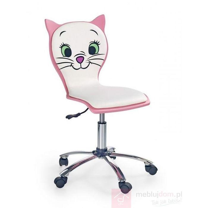 Fotel obrotowy KITTY 2 Halmar Biało-różowy