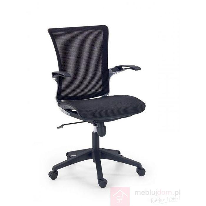 Fotel obrotowy LENOX Halmar Czarny, Tkanina membranowa