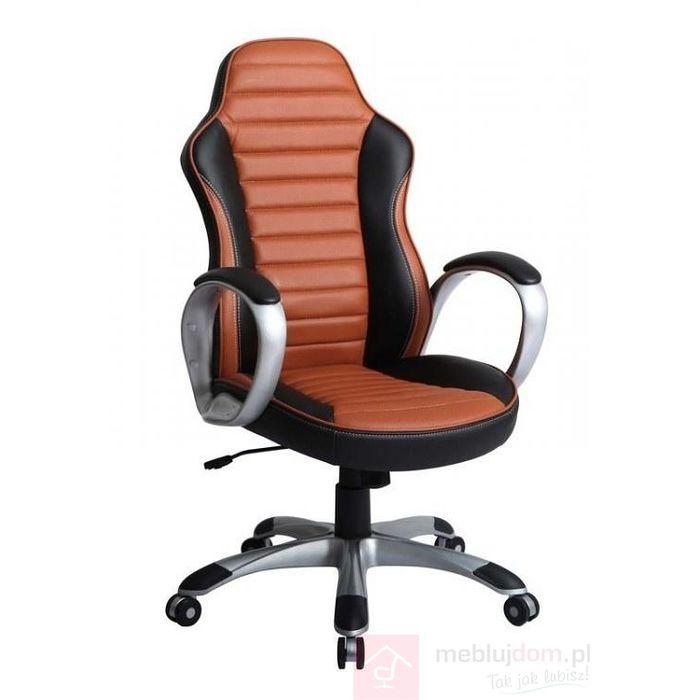 Fotel obrotowy LEOPARD Halmar Czarno-brązowy