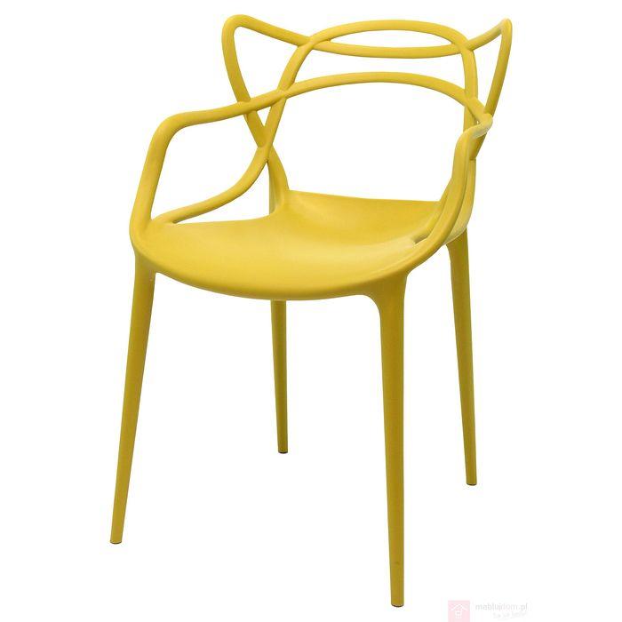 Krzesło AC-006 zółte