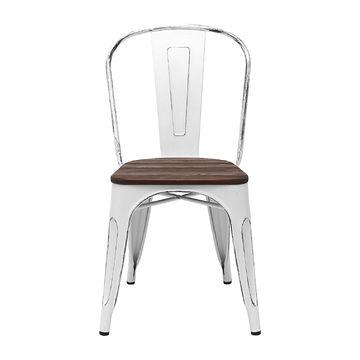 Krzesło AC-001K - II antyczny biały + sosna