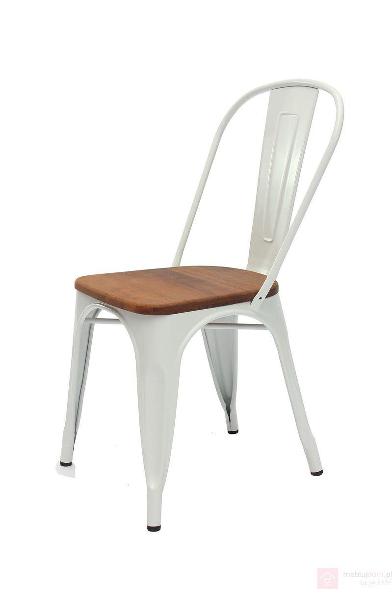 Krzesło AC-001L biały + teak