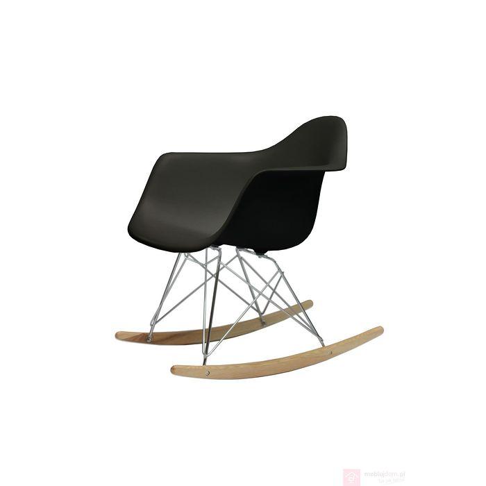 Krzesło bujane AC-018R czarne