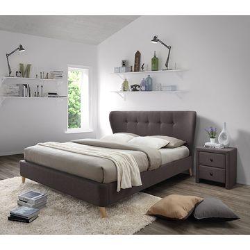 Łóżko VIENA Halmar brązowe