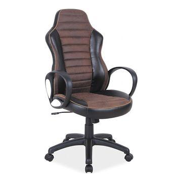 Fotel obrotowy Q-212 Signal Czarno-brązowy