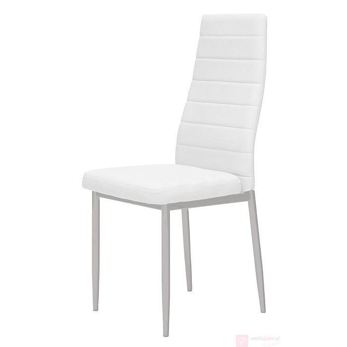 Krzesło AC2-001 malowane nóżki białe/szare nóżki