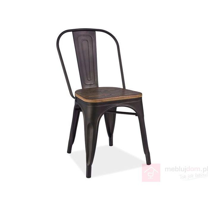 Krzesło LOFT Signal Orzech ciemny + grafit