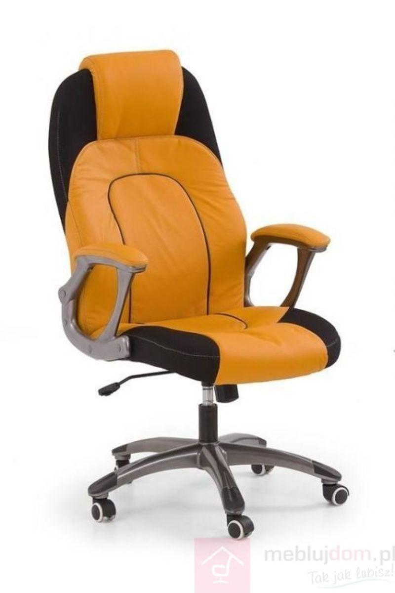 Fotel obrotowy VIPER Halmar Czarno-pomarańczowy