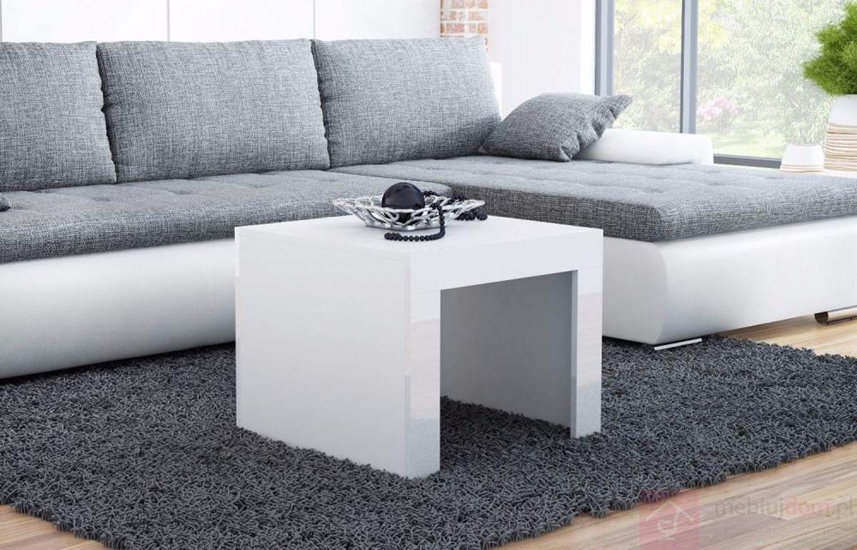 Ława TESS kwadrat (Biały + biały połysk)