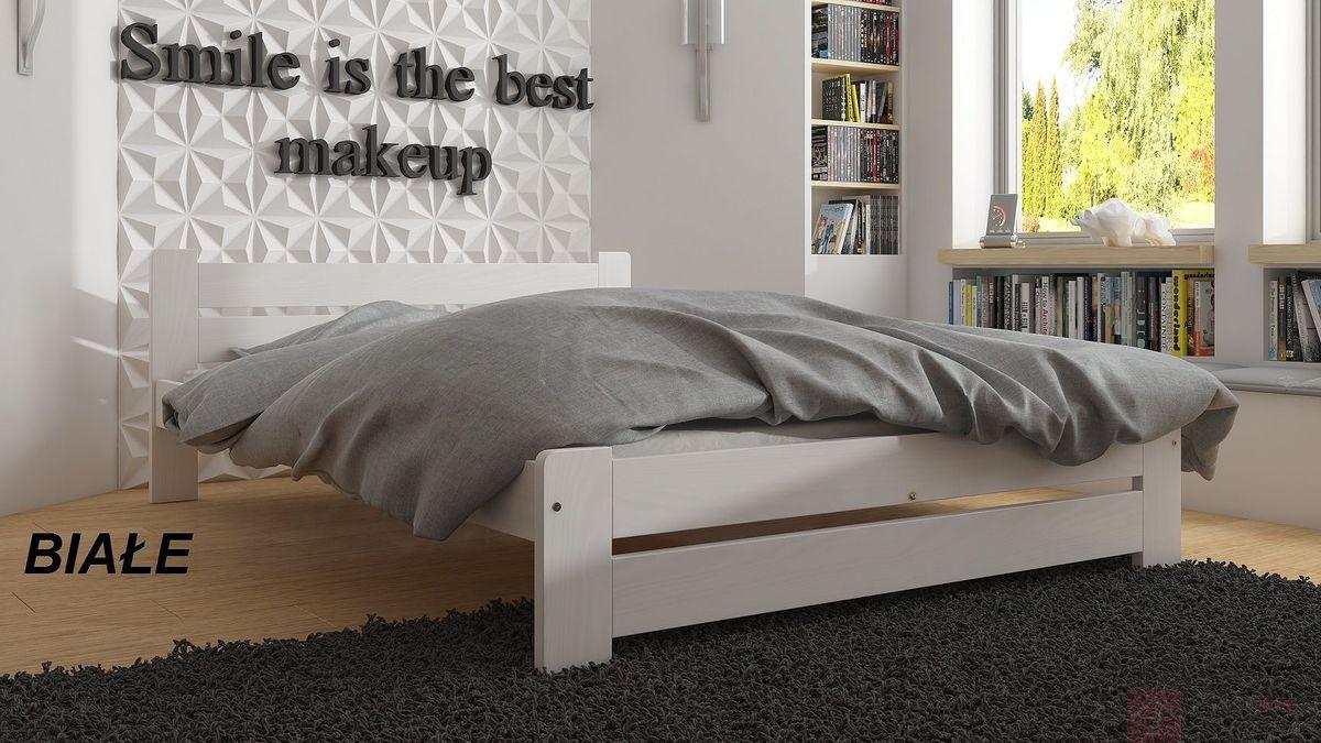 Łóżko drewniane MONI (Białe)