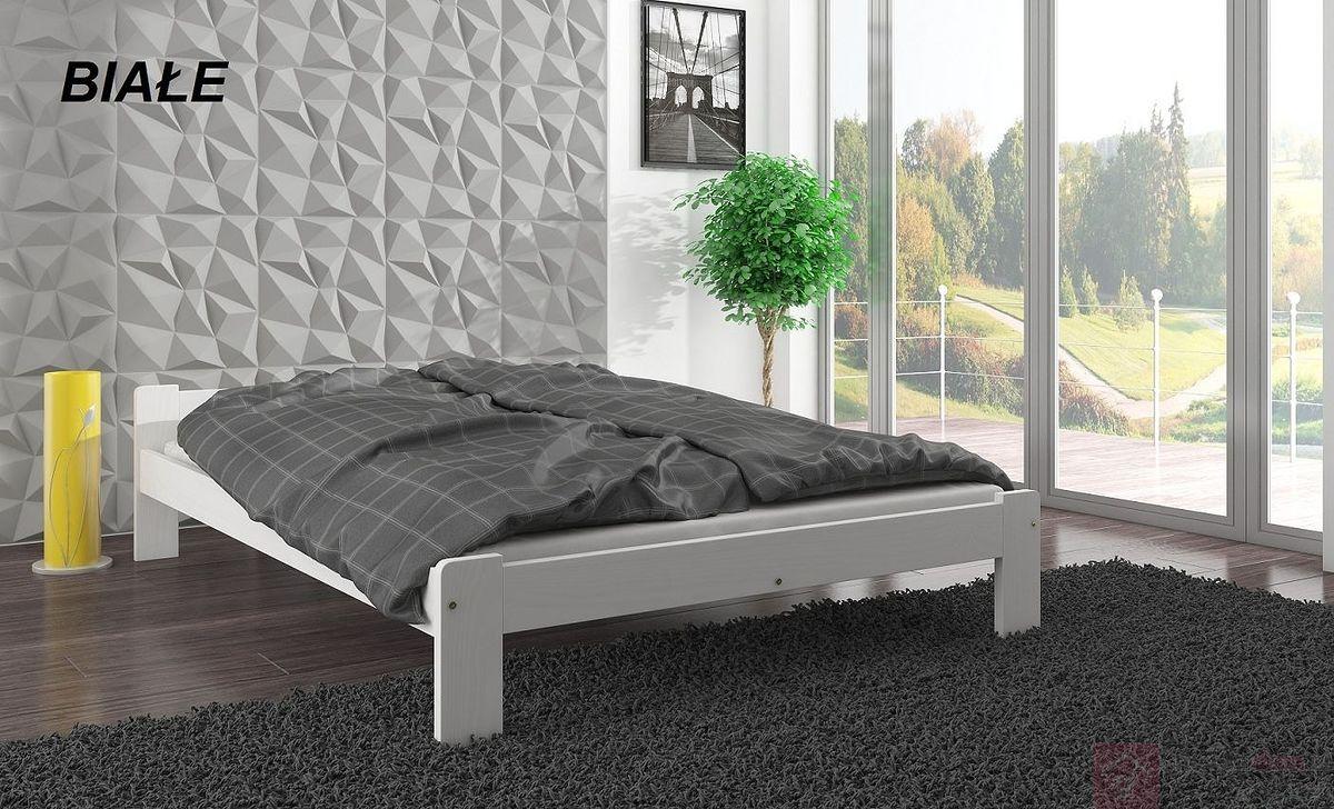 Łóżko drewniane IWONA (Białe)