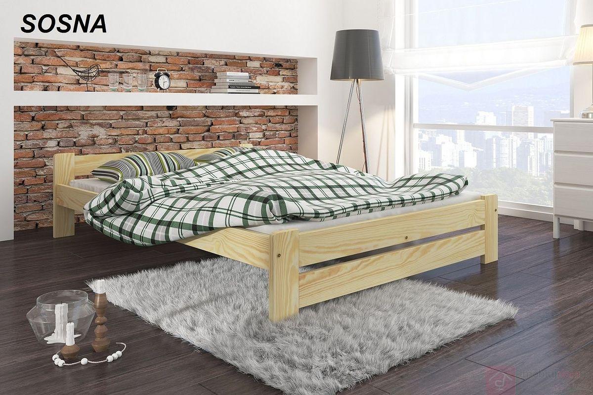 Łóżko drewniane DOMI (Sosna)