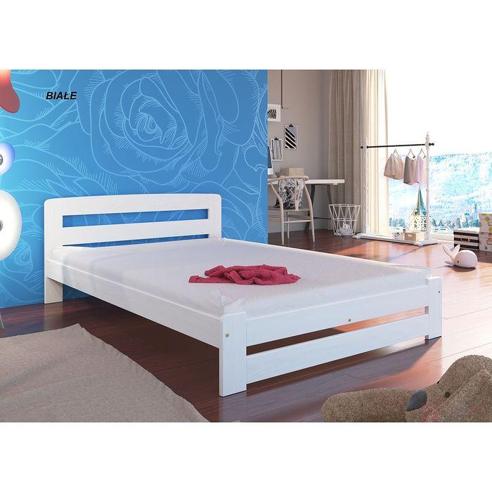 Łóżko drewniane LOLA (Biały)
