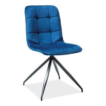 Krzesło TEXO Aksamit granatowy