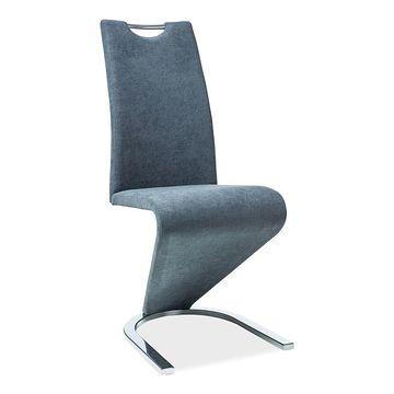Krzesło H-090 chrom Signal grafitowe