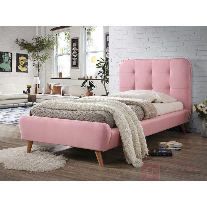 Łóżko Tiffany Signal 90x200 (Różowy)