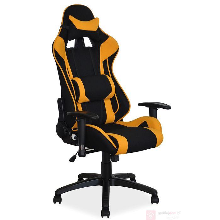 Fotel dla gracza VIPER Signal czarno-pomarańczowy