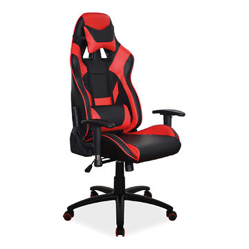 Fotel dla gracza SUPRA Signal czarny-czerwony