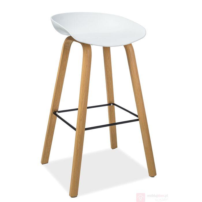 Hoker STING Signal buk + białe siedzisko plastikowe