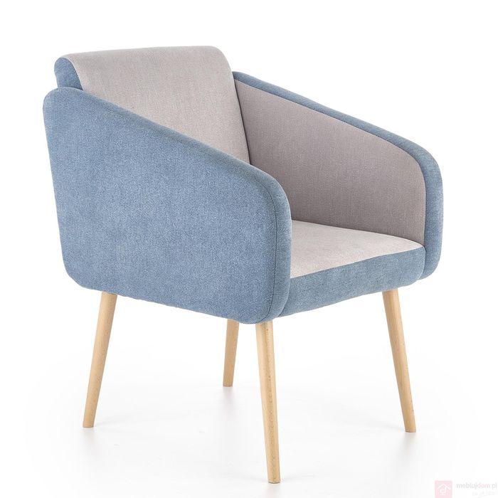 Fotel WELL Halmar (Turkusowy + jasny popiel)