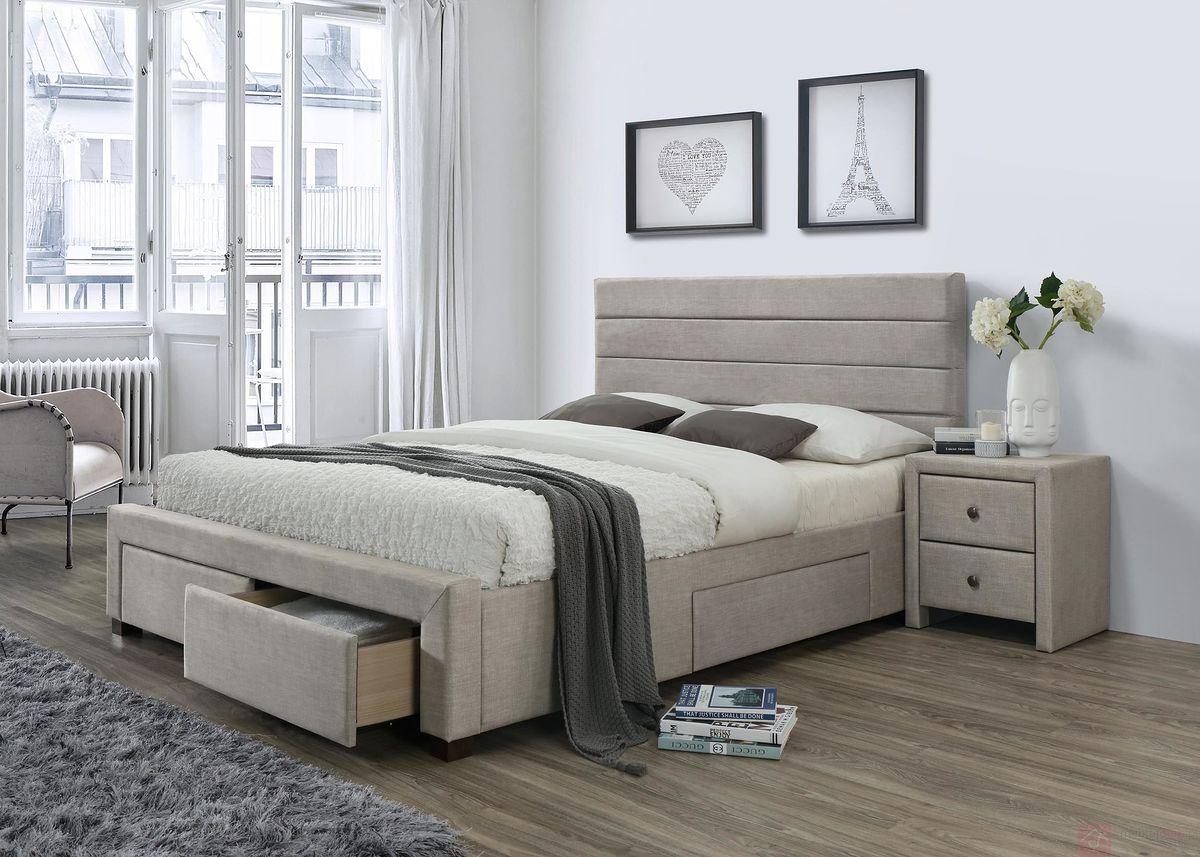 Łóżko tapicerowane KAYLEON Halmar