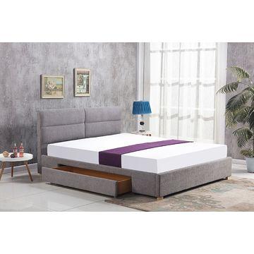 Łóżko MERIDA 160x200cm Halmar szary