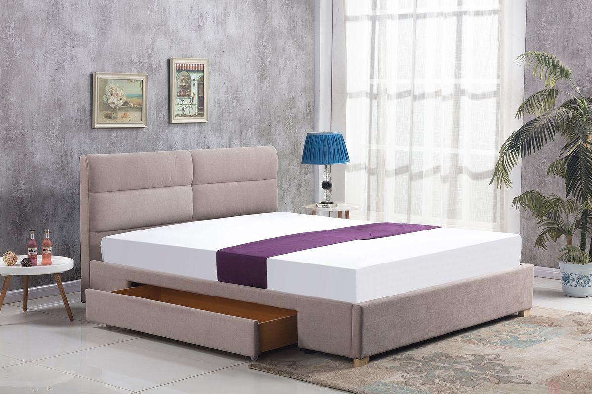 Łóżko MERIDA 160x200cm Halmar beżowy