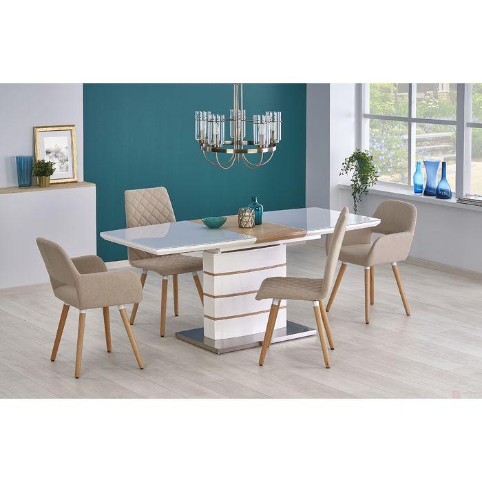 Stół TORONTO Halmar (Biały + dąb złoty)