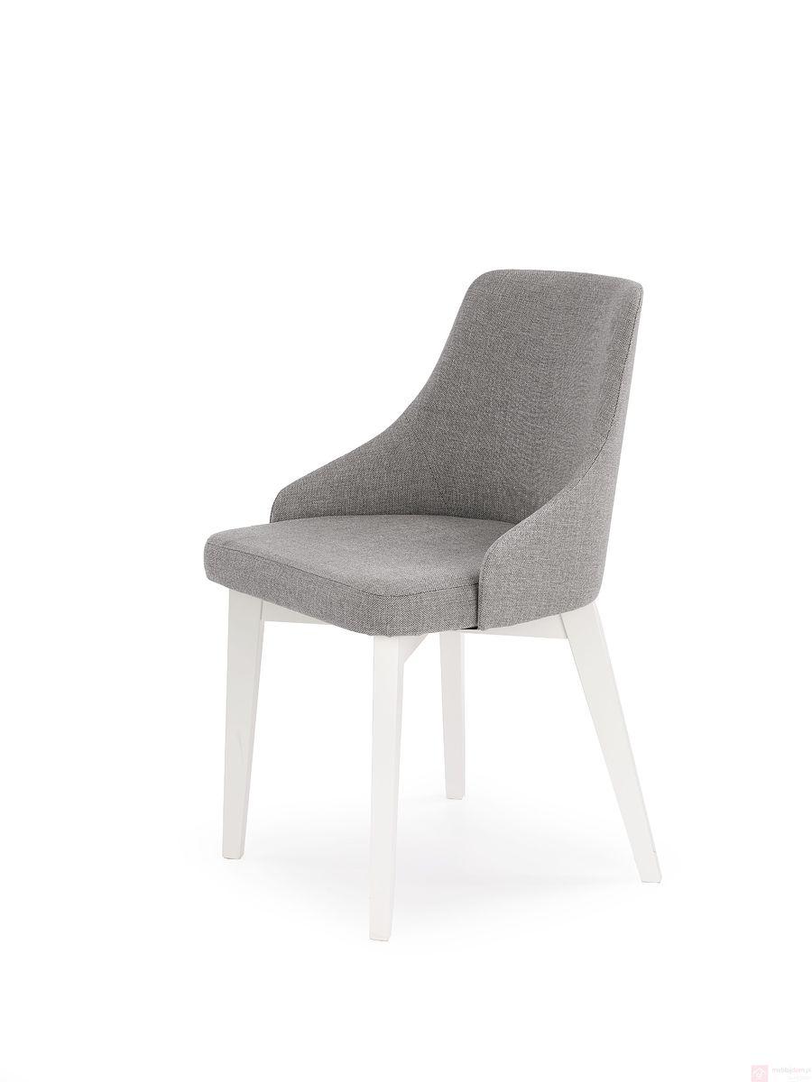 Krzesło TOLEDO Halmar białe nogi tkanina inari 91