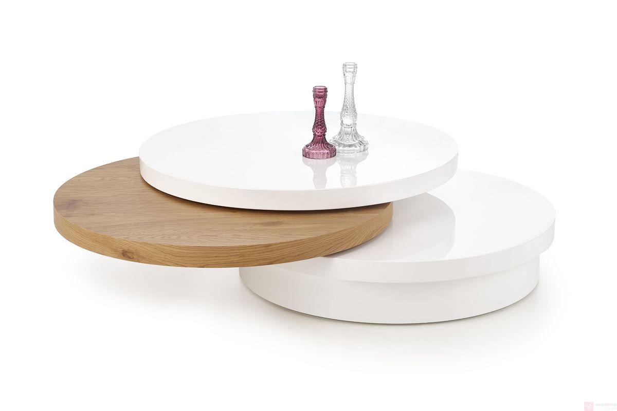 Ława MICHELLE Halmar (Biały + dąb złoty)