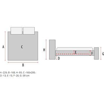 Łóżko MITO Signal (Wymiary) 160x200 cm