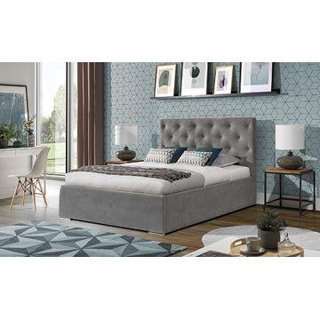 Łóżko tapicerowane KAJA z pojemnikiem na pościel (Enzo 161)