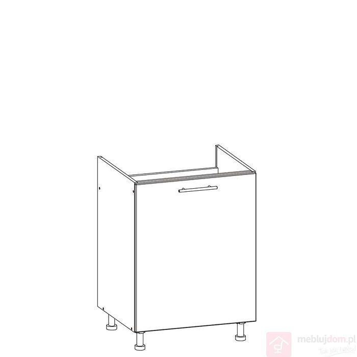 Szafka dolna TIFFANY T23/D60Z (Biały + biały połysk)