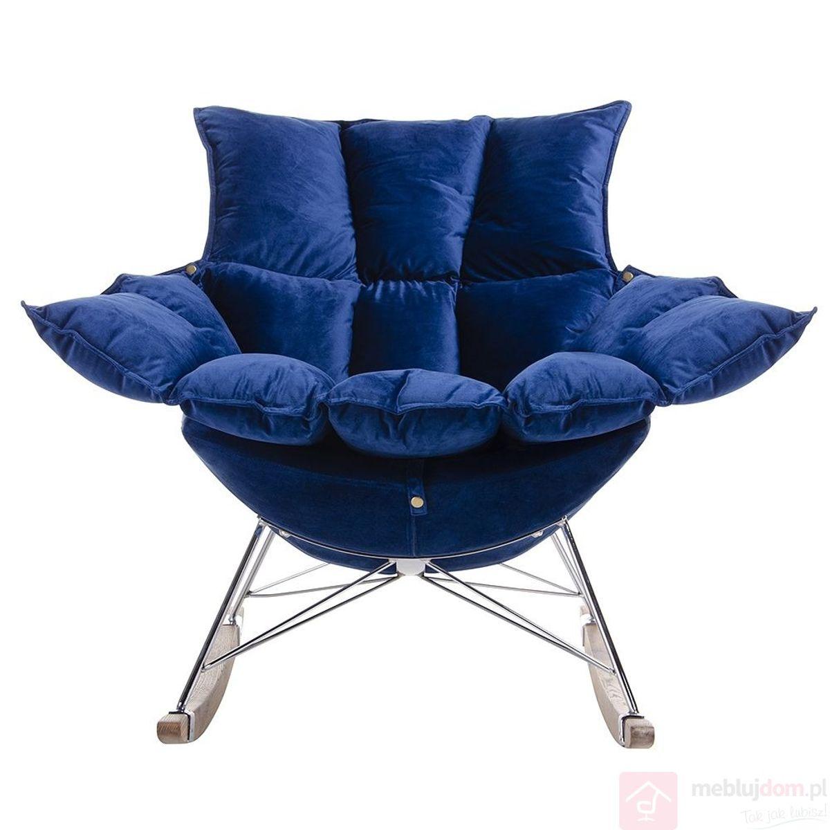 Fotel SWING VELVET ciemny niebieski