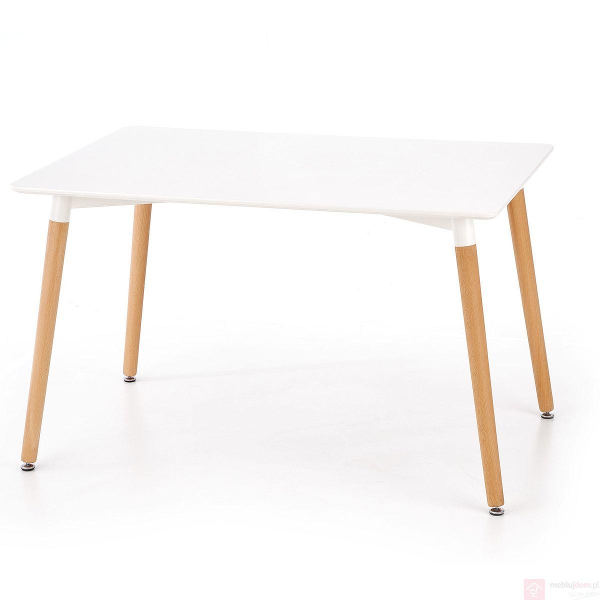 Stół SOCRATES Halmar prostokąt Biały połysk, 80x120 cm