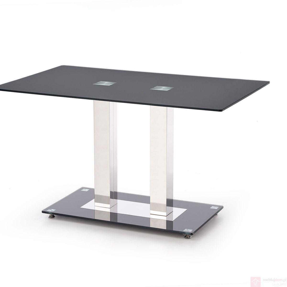 Stół WALTER 2 Halmar Przezroczysty, 80x130 cm