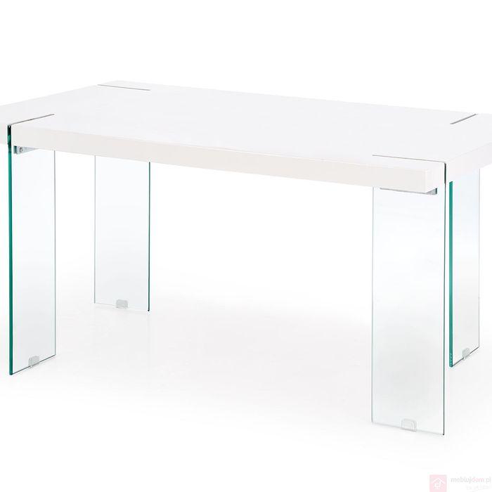 Stół MILTON Halmar (Biały połysk + bezbarwny)