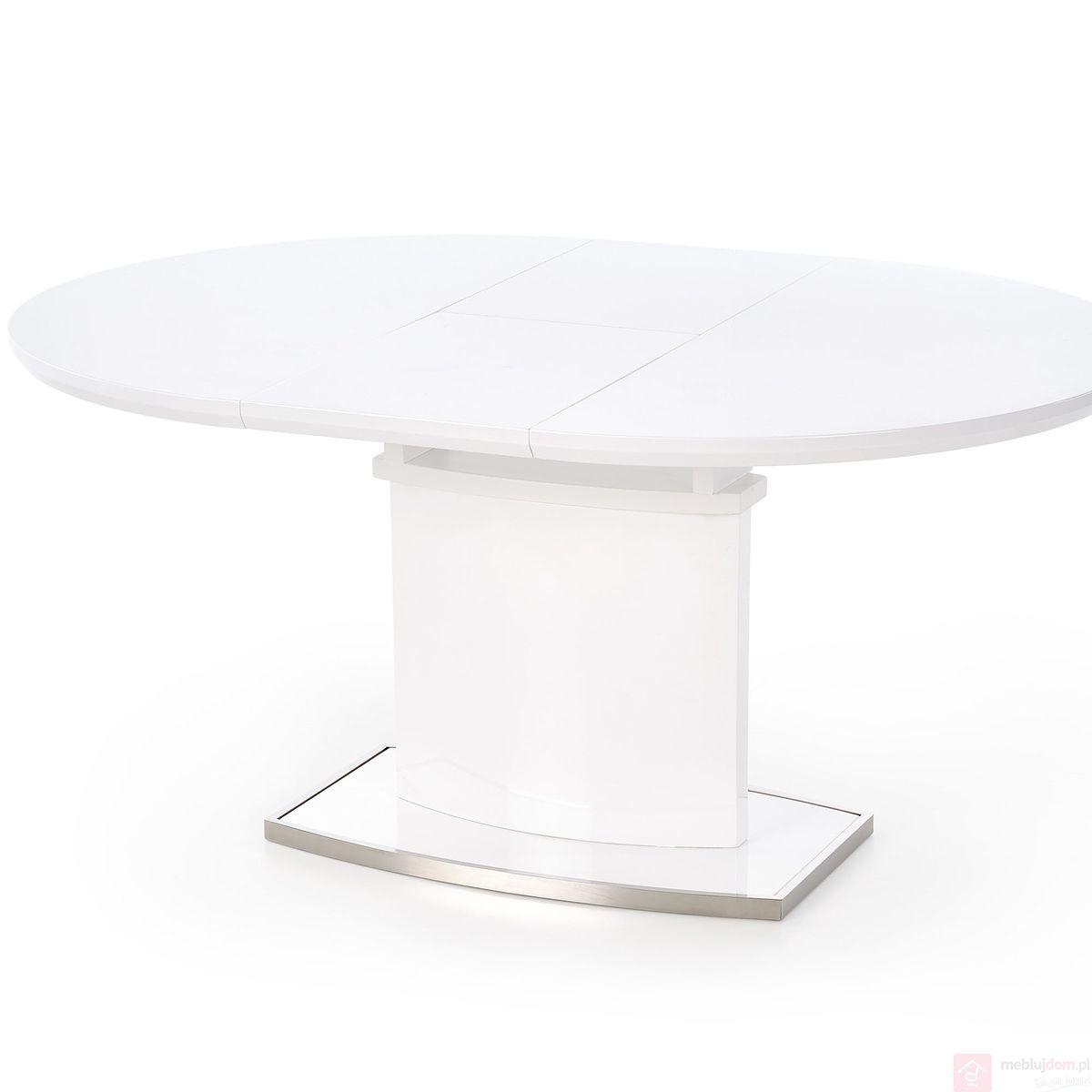 Stół FEDERICO Halmar Biały połysk rozłożony