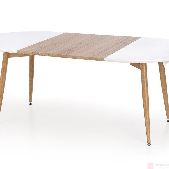 Stół CALIBER Halmar (Biały + dąb sanremo)